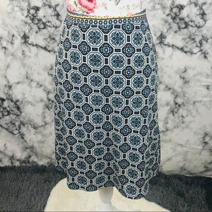 Max studio Large blue and yellow stew skirt